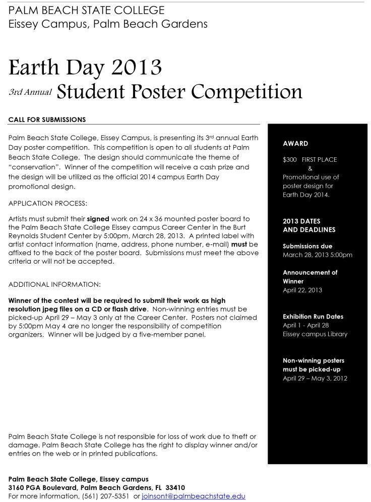Earth Day Poster Contest