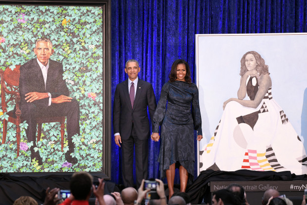 The National Portrait Gallery unveils official portraits of former President Barack Obama and first lady -  DC